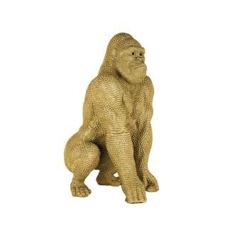 Gorilla deco object gold small (Goud)
