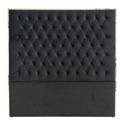 Hoofdbord Lowell 180x180 Black velvet / goud (Goud)