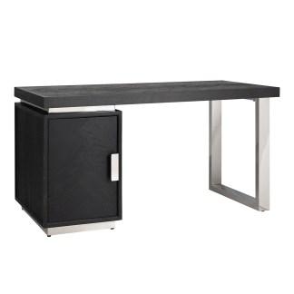 Bureau Blackbone silver 1-deur (Zilver)
