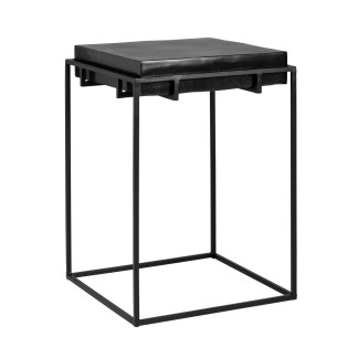 Bijzettafel Bolder aluminium zwart (Zwart)