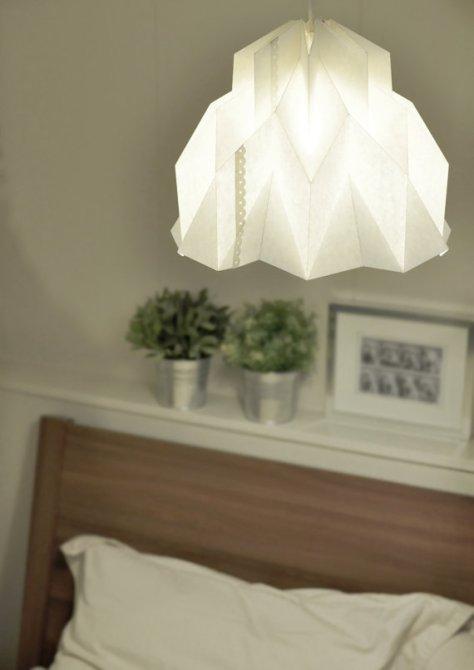 origami lamp lantern via fiberlab