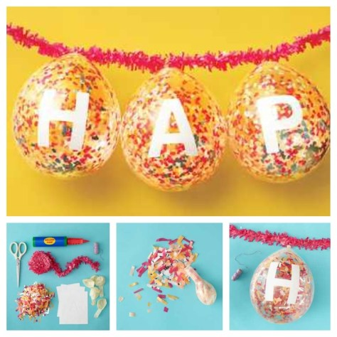 DIY confetti ballon via media cache