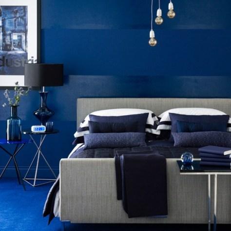 blauwe slaapkamer via housetohome