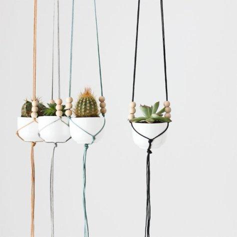 mini cactussen in hangpotjes via etsy
