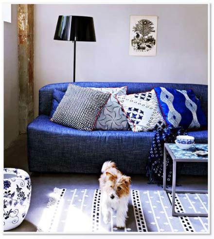 tip 2. je krijgt meer blauw als je blauw meubilair neerzet