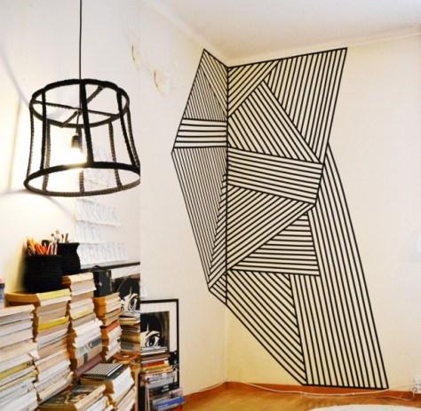 Masking-tape-op-de-muur