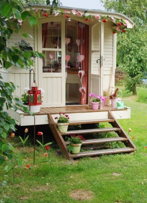 gipsy caravan via plumwatercottage