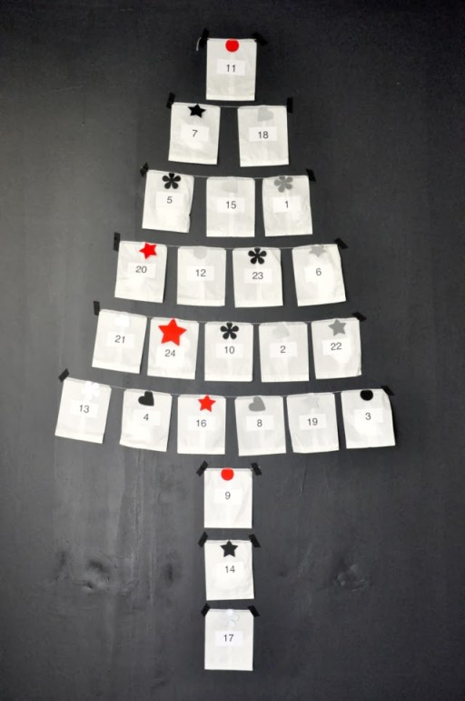 kerstboom als adventskalender via vdj boutique