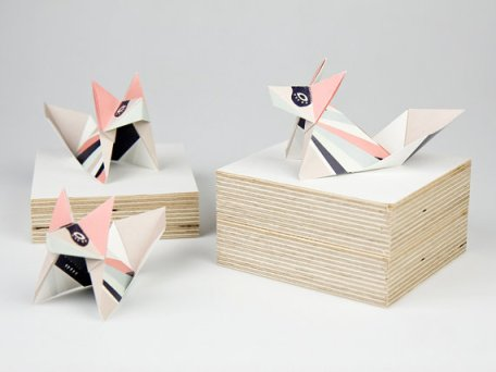 origami fox van Britta MAnger via Djello