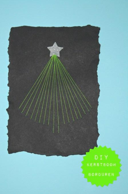 een kerstboom borduren