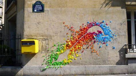 origami street art van mademoiselle Maurice