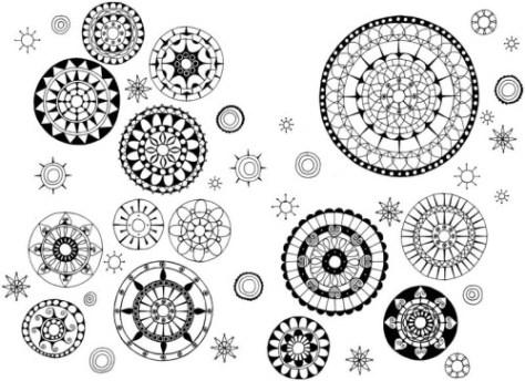 medallion doodles via doodle typepad