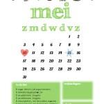 een freeprintable kalender voor mei