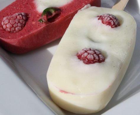 zelf gemaakte ijsjes
