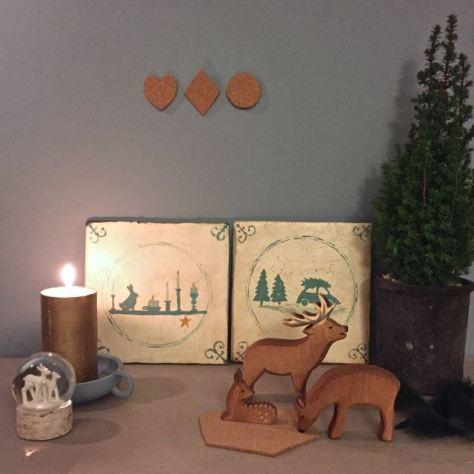 een zelfmaakidee voor een oud Hollands kerst tegeltje