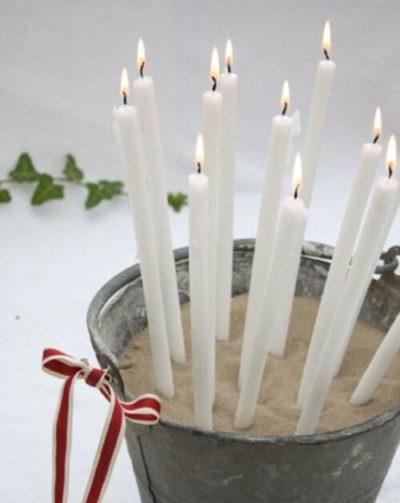 zink en kaarsen
