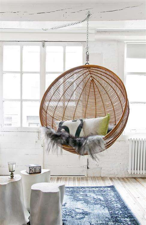HK Living hangstoel bal rotan  Woontrendz
