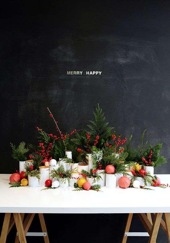 Kerstdecoratie op tafel  Woontrendz