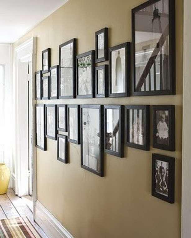 Muur met fotolijsten  Woontrendz