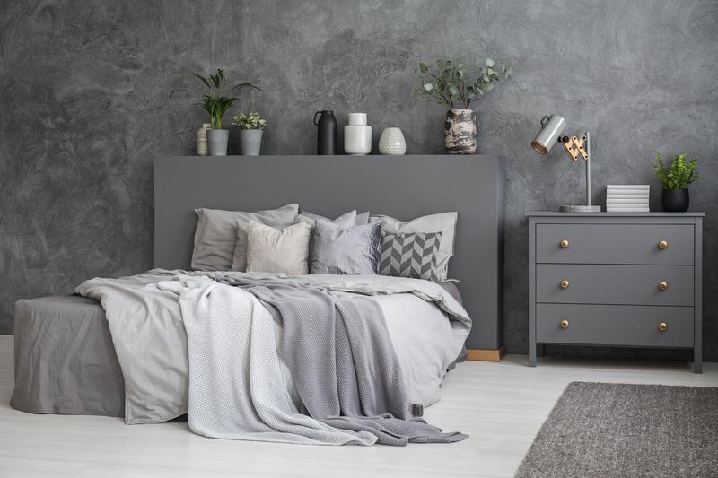 Strak en simpel met grijstinten in je slaapkamer