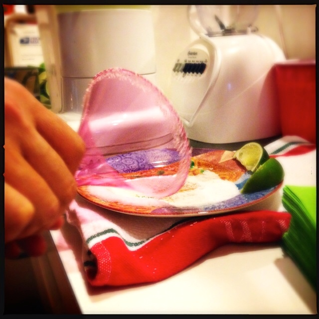 Salting the margarita glass rims
