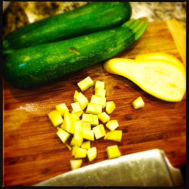 Chopped summer squash