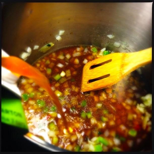 Add vegetable stock