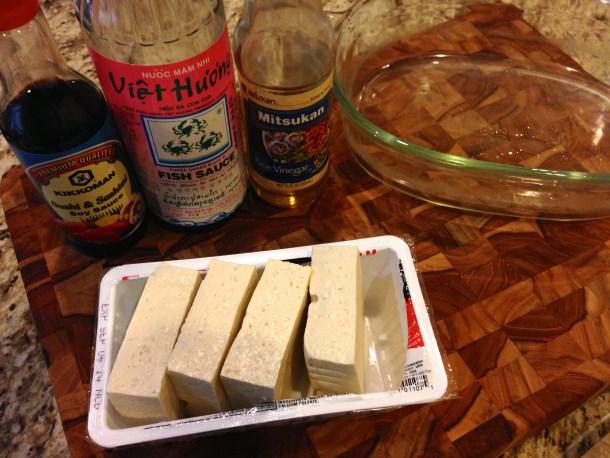 Tofu and marinade