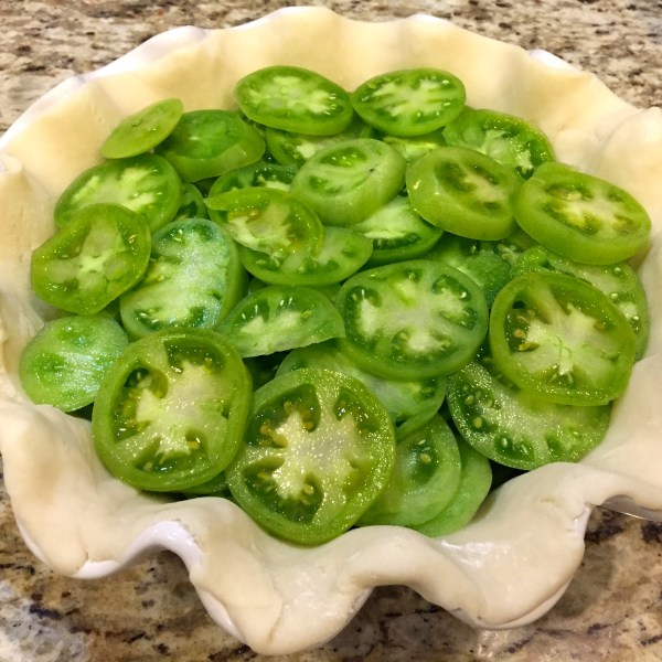 Full Green Tomato Pie