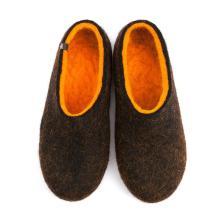 FELT House shoes DUAL BLACK orange