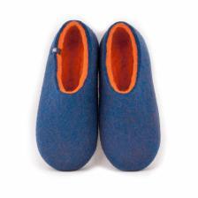 Wool slippers DUAL BLUE orange