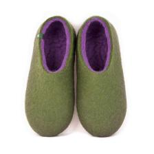 Shoe slippers DUAL OLIVE GREEN lilac