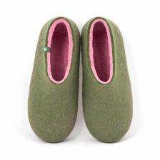 Shoe slippers DUAL OLIVE GREEN pink