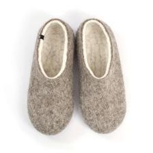 DUAL NATURAL gray white organic slippers