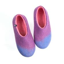 Women's wool slippers AMIGOS sky blue lilac pink
