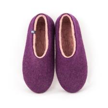 Aubergine slippers DUAL PURPLE pale pink