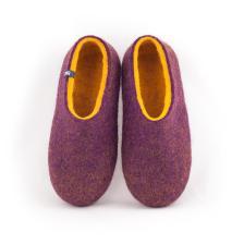 Wool clogs DUAL PURPLE yellow