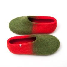 jazz green red - winter slippers