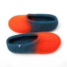 jazz orange navy blue - colorful slippers