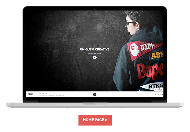 Ninja - Full Screen Fashion eCommerce HTML Template