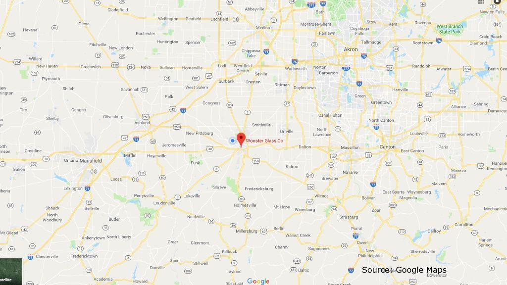 a Google Maps photo of Wooster, Holmes County and surrounding communities.