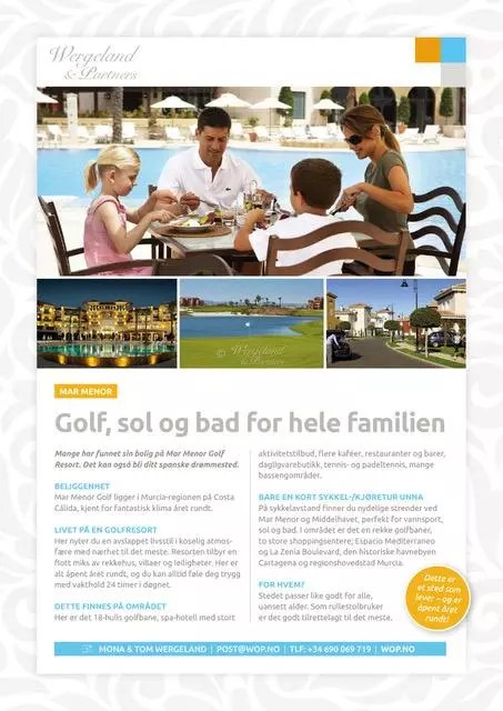 Produktark Mar Menor Golf Resort