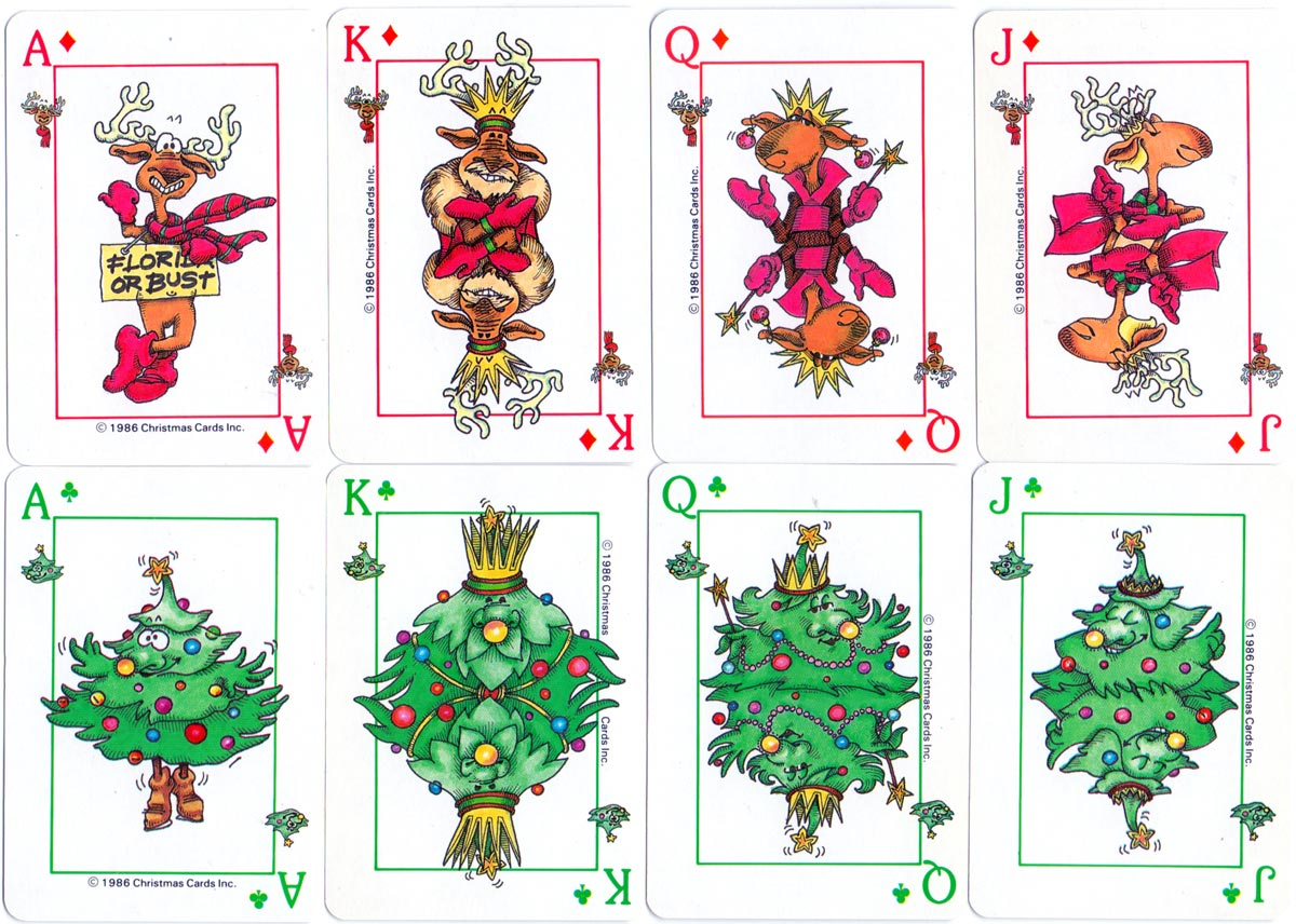 hight resolution of christmas playing cards