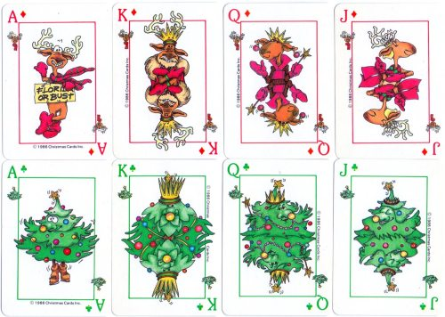 small resolution of christmas playing cards