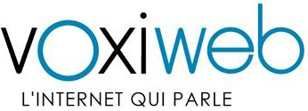 """logo Voxiweb """"'l'Internet qui parle"""""""