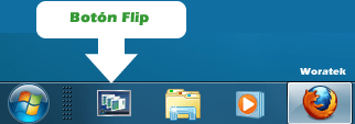 boton flip windows 7