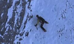 Deporte escalar montañas