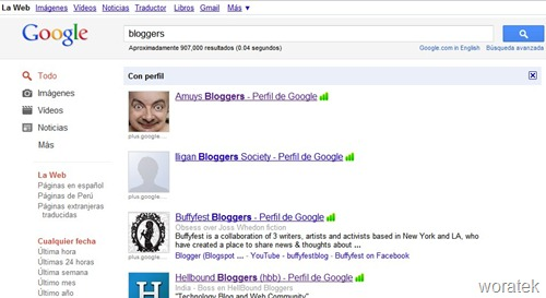 Búsquedas en Google  desde Chrome 3