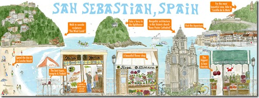 San Sebasitan-España, mapa artístico Google Maps