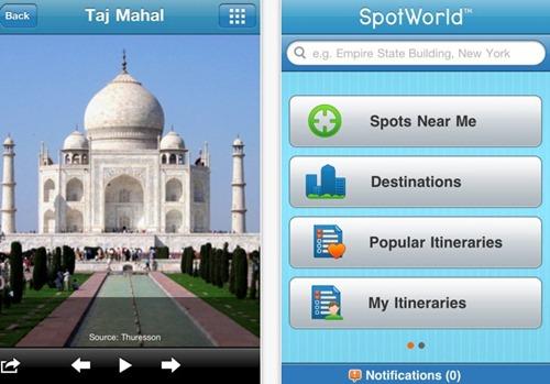 SpotWorld viaje con recomendaciones de viajeros